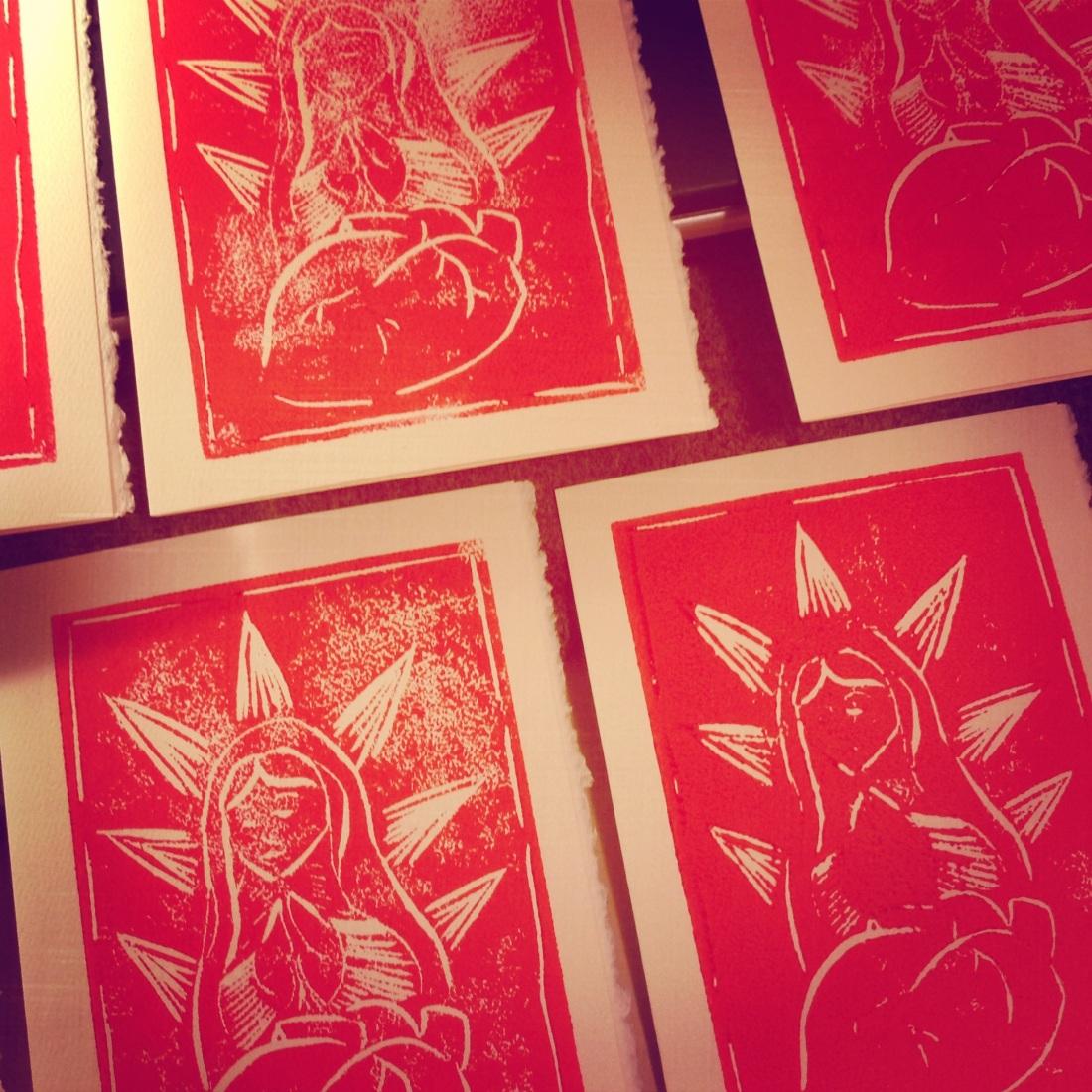 Linoleum print, 2014